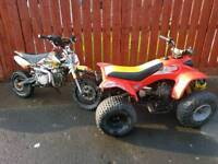 Ram 100 and 140cc pitbike