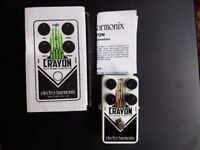Electro Harmonix (EHX) Crayon Guitar Overdrive Effects Pedal (Full Range)