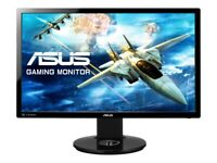 As New. ASUS VG248QE ultra-fast gaming monitor; HDMI, DVI-D true-life, 3D-ready.