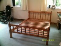 Pine Double Bed Frame .