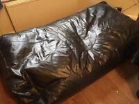 Huge Brown Leather Bean Bag