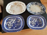 Selection of serving plates