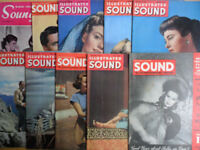 Vintage Sound Wave Magazines - film/theatre/arts 1940s 1950s