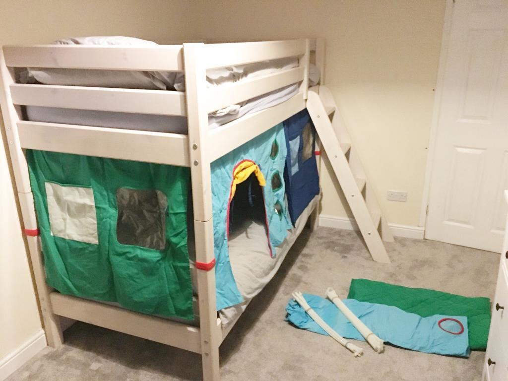Flexa White Bunk Bed With Mattresses And Bunk Bed Accessories In Newport Gumtree