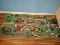 Children bedroom road rug