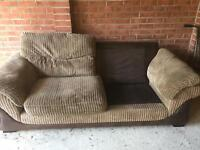 FREE dfs 3 seater sofa without 2 cushions