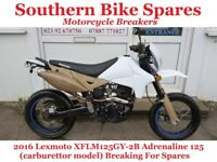 2016 Lexmoto XFLM125GY-2B Adrenaline 125 * Breaking For Spares / Parts * (carburettor model)