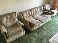 3 SEAT SOFA AND 2 ARMCHAIRS
