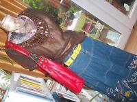 Ladies festival style denim skirt