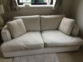 marks and spencer autograph range cream two seater sofa