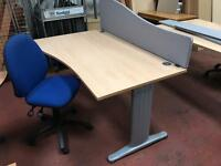 1400MM Waved Desk & Chair Package