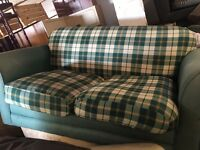 GREEN FABRIC SOFA BED very comfy