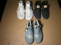 Nike Huarache Trainers UK 8, Huarache UK 6 and Nike Air Max UK 5