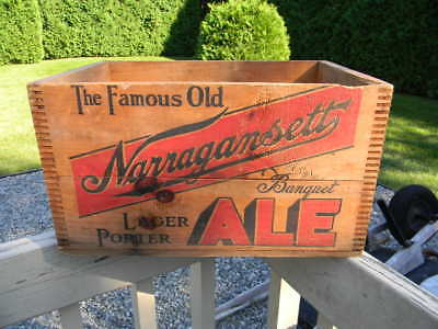 VINTAGE CLEAN 1945 NARRAGANSETT BEER BOTTLE WOOD CRATE BOX CRANSTON RI. SHARP! for sale  Shipping to Canada