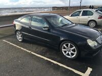Marcades c180 kompressor coupe full years mot open to sale or swap