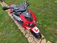 Can deliver peugeot speedfight 50cc L/C 2T new mot aprilia sr50 aerox 50 nrg zip gilera dna runner