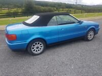 Audi 80 convertible for sale in lovely condition low mileage and new mot.