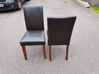 Brown Faux Leather Mid/High Back Chairs FREE DELIVERY 635
