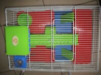 De Luxe hamster/mouse cage and accessories