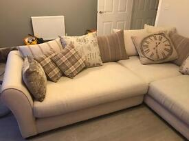 Cream Cushion-Back Sofa