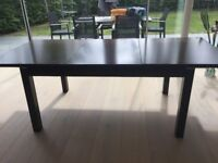 Gautier extendable dining table - contemporary style - solid construction