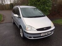 GALAXY 2.3 02 REG 7 SEATS IN SILVER WITH BLACK TRIM, SERVICE HISTORY AND MOT AUGUST, 07867955762