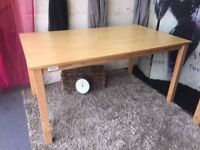 OAK VENEER 120CM DINING TABLE NEW SECOND