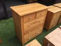 *BARGAIN* 2x Solid oak large chest of drawers