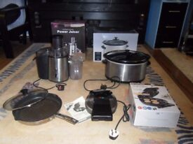 kitchen small appliances power juicer slow cooker doughnut maker grill pan