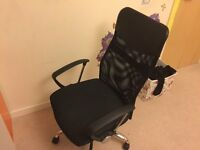 3 chairs and 3 desks for sale