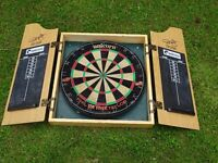 unicorn PDC Phil Taylor dartboard with case