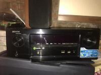 Denon x2100w 4k hdr av receiver including speakers