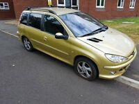 Peugeot 206sw Cheap car read ad