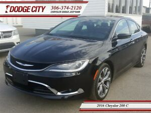 2016 Chrysler 200 C | FWD - Heated Leather, Backup Cam, Remote S