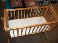 Mothercare swinging crib / cot bed