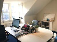 Desk in Central Office, Edinburgh