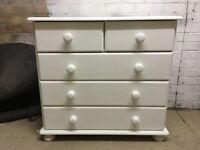 Shabby chic solid wood chest of drawers