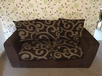 'Fock Style' Two Seater Sofa with Cushions