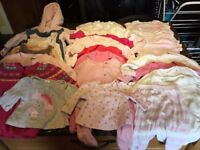 Bundle of girls' clothes for sale - up to 3 months, excellent condition, 33 items for just £10!