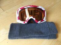 Oakley ski goggles and snow+rock neck buff.