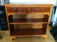 Small yew bookcase - beautiful reproduction, used but good condition