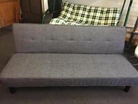 Brand New Grey Fabric Clic Clac Sofa bed
