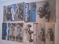 4 vintage tamiya build manuals