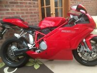 Ducati 749 bip absolutely pristine. Only covered 1084 miles