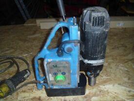 A 110 volt Magbroach magnetic rotabroach drill/hole cutter