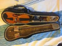 Half sized violin with case