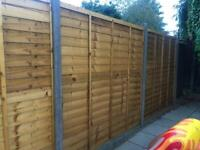 2 x treated standard 6x5 fence panels - AS NEW!