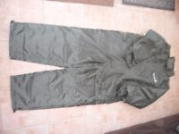 FISHING SUIT ALL IN ONE 100% Waterproof size ex lge NEW but with a mark