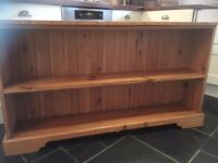 Solid Vintage Pine Shelving unit dresser top shelves