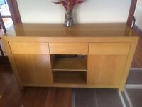 Dining table with matching side board